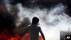 Người biểu tình tại Quảng trường Taksim ở Istanbul, ngày 11/6/2013.