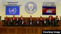 The courtroom of the Khmer Rouge tribunal during verdict session of the Case 002/01. (Courtesy Image of ECCC)