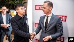 Bộ trưởng Ngoại giao Đức đón tiếp nhà hoạt động Hong Kong Joshua Wong