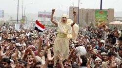 تظاهرات مخالفان و هواداران علی عبدالله صالح در يمن