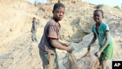 Child labor in Africa.