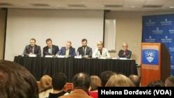 """Učesnici panela """"Ruski uticaj na Balkanu - metode i rezultati"""""""