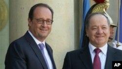 Francois Hollande û Mesûd Barzani