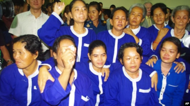 Thirteen women hastily convicted in May after their arrest in a land demonstration were released from jail on Wednesday, June 27, 2012.