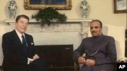 صدر ضیاءالحق اور صدر رونالڈ ریگن وائٹ ہاؤس میں