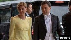 Президент Украины Владимир Зеленский с супругой Аленой (архивное фото)