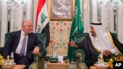 دیدار حیدر العبادی نخست وزیر عراق با ملک سلمان پادشاه عربستان سعودی در ریاض - ۲۹ خرداد ۱۳۹۶