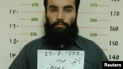 Anas Haqqani, senior leader of the Haqqani network, arrested by Afghan Intelligence Service (NDS), Khost province, Oct. 16, 2014.