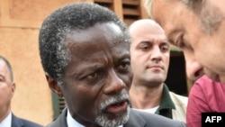 Parfait Onanga-Anyanga, intumwa ya ONU muri Centrafrika, i Bangui, Centrafrika, itariki 30/12/2015.