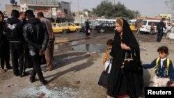 El área de Kadhimiya en Bagdad fue el sitio donde un ataque suicida dejó unos 13 muertos.