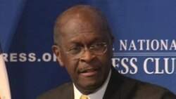 Cain Leads Republicans but Is Under Fire