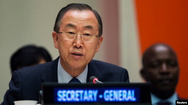 FILE - United Nations Secretary General Ban Ki-moon
