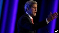 美国国务卿克里在约旦参加国际经济论坛