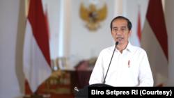 Presiden Jokowi di Istana Kepresidenan Bogor, Jumat (19/3). Presiden mendesak diselenggarakannya Pertemuan Tingkat Tinggi ASEAN untuk membahas Krisis Myanmar. (Foto: Courtesy/Biro Setpres)