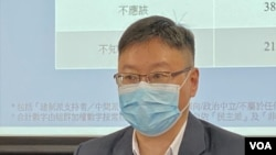 陳家洛表示港府追討薪津在國際上沒有相同的例子。(美國之音: 湯惠芸拍攝)