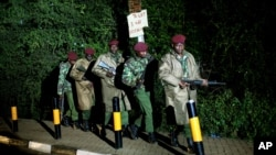 2013年9月23日在肯尼亞軍隊離開首都內羅畢遭受遇襲的商場。