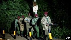 Des soldats kenyans