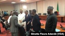 Une rencontre entre le président Patrice Talon et l'opposition à Cotonou, au Bénin, le 11 août 2021.