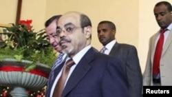 ນາຍົກລັດຖະມົນຕີອທີໂອເປຍ ທ. Meles Zenawi ທີ່ກໍາລັງຮັກສາ ຕົວຢູ່ໃນໂຮງໝໍ Saint Luc ທີ່ນະຄອນ Brussels ປະເທດແບລຢ້ຽມ (ETHIOPIA - Tags: POLITICS)