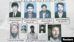 An undated handout photo shows nine civilians allegedly detained at a military outpost in Wardak by U.S. special forces and Afghans identified as translators.