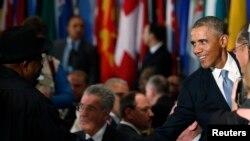 Shugaba Goodluck Jonathan da Shugaban Amurka Barack Obama.
