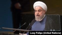 Iranski predsednik Hasan Rohani govori u Generalnoj skupštini UN