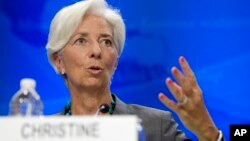 Глава МВФ Кристин Лагард, Вашингтон, 22 июня 2016