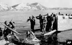 美军1950年7月在朝鲜半岛东部登陆