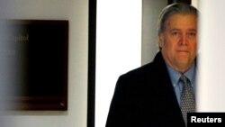 美国白宫前首席战略师史蒂夫·班农 (资料照)