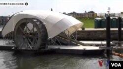 巴爾的摩利用水車 清除河道垃圾