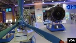 2013年莫斯科航展上乌克兰西奇公司展出的航空引擎。