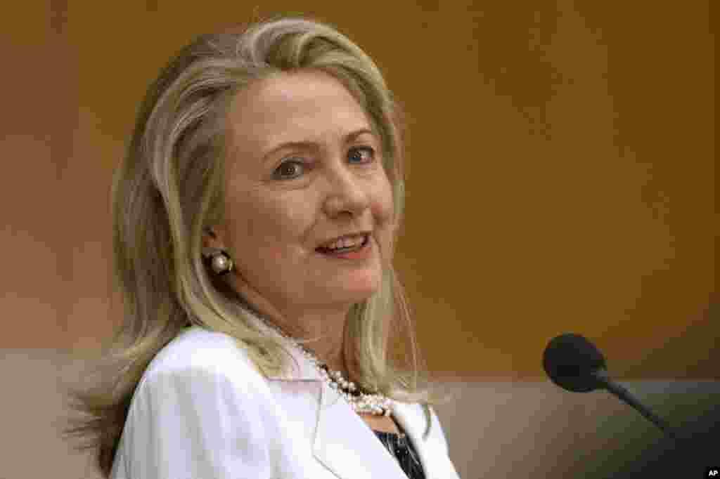 Tại trụ sở Bộ Ngoại giao ở Washington hôm 25/7/2012.