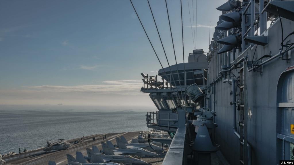 羅斯福號航母2018年4月11日抵達馬尼拉訪問(美國海軍照片)