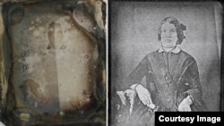 These before and after images demonstrate the results of a new photo restoration process developed at Western University and Canadian Light Source Inc that can recover unrecognizable images from the 19th century back to life. (University of Western Ontari