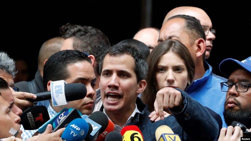 Lãnh đạo đối lập Juan Guaido, Tổng thống lâm thời tự xưng của Venezuela.