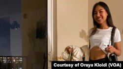 Oraya Kloidi, a 23-year-old Thai student at Johnson & Wales University, North Miami campus