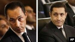 호스니 무바라크 전 대통령의 두 아들 알라 무바라크(오른쪽)와 가말 무바라크. (자료사진)