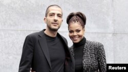 Bintang musik pop AS, Janet Jackson (kanan) dan suaminya, Wissam Al Mana (foto: dok).