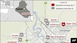 星期四更新的巴格達爆炸案示意圖