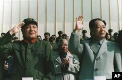 1981年9月,邓小平和胡耀邦阅兵