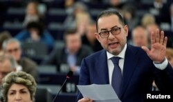 European Parliament's presidential candidate Gianni Pittella attends the presentation of the candidates for the election to the office of the President at the European Parliament in Strasbourg, France, Jan. 17, 2017.