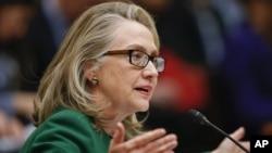 Menlu AS Hillary Clinton memberi kesaksian serangan di Benghazi, Libya di hadapan Komisi Hubungan Luar Negeri Senat AS, Rabu (23/1).
