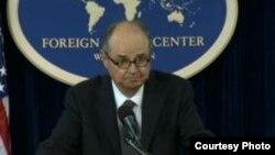 美國駐阿富汗與巴基斯坦特別代表詹姆斯.多賓斯在華盛頓外籍記者中心