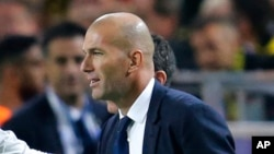 Zinedine Zidane, 27 septembre 2016.