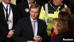Perdana Menteri Irlandia Enda Kenny di Castlebar, Irlandia, Februari 2016.