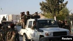 Türkiye'nin Suriye'nin kuzeyinde desteklediği muhalif Suriye Ulusal Ordusu güçleri