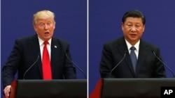 Perezida Donald Trump wa Leta Zunze ubumwe z'Amerika na Xi Jinping w'Ubushinwa