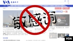 """中国政府禁用的""""敏感词""""(美国之音 慕小易提供)"""