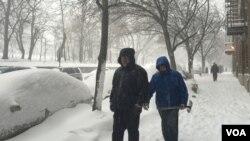 暴雪后的纽约