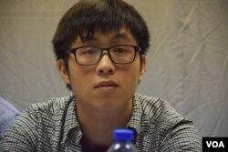 香港樹仁大學學生會內務副會長劉俊業。(美國之音湯惠芸)